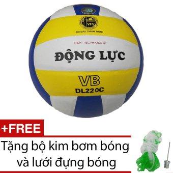 Quả bóng chuyền Động Lực DL220C + Tặng bộ kim bơm bóng và lưới đựng bóng