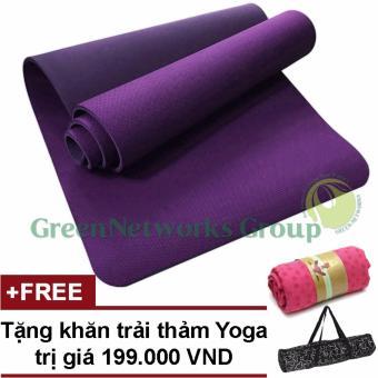 Thảm tập Yoga TPE cao cấp Zera GnG 6mm 2 lớp có túi đựng + Tặng khăn trải thảm