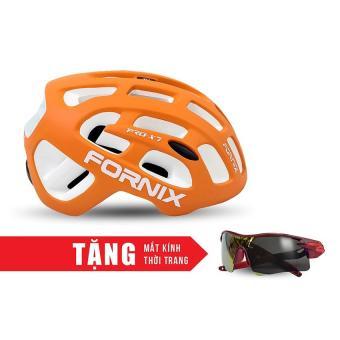Nón bảo hộ cho người đi xe đạp FORNIX A02NX7 (Cam) + Tặng Mắt kính thời trang