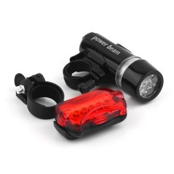 Đèn Led gắn xe đạp Powerbeam (Đen) - Tiktakus