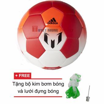 Quả bóng đá Adidas Messi Q1 size 5 + Tặng bộ kim bơm bóng và lưới đựng bóng