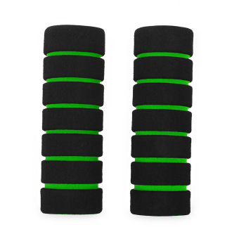 One Pair Soft Sponge Foam Handle For Road Mountain Bike (Green) - intl