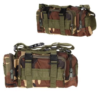 Jungle Camo Outdoor Military Tactical Waist Pack Molle Hiking Pouch Bag