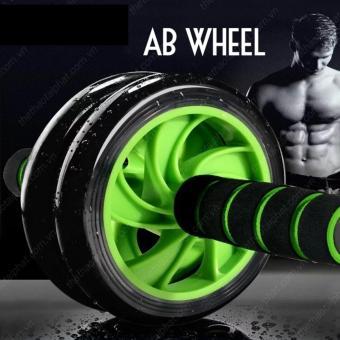 Con lăn 2 bánh tập cơ bụng AB Wheel kèm thảm (Xanh lá)