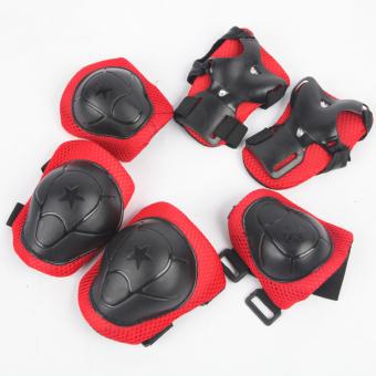 Bộ 6 miếng bảo vệ tay và chân cho bé 2-6 tuổi (Đỏ)