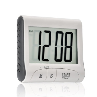 Mini LCD Home Kitchen Cooking Countdown Count Up Digital Alarm Timer Reminder with Stand - intl