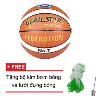 Quả bóng rổ Gerustar Federation số 7 +Tặng kim bơm bóng và lưới đựng bóng