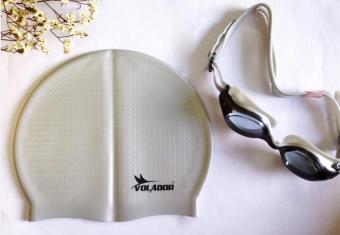 Mũ bơi silicone thường màu bạc