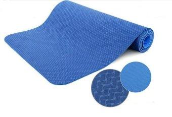 Thảm tập Yoga TPE dày 8mm màu xanh dương (Có túi đựng đi kèm)