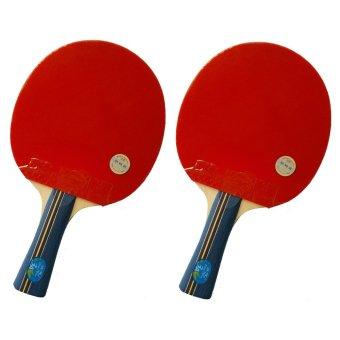 Bộ 2 Vợt bóng bàn Doube Fish 3AC (Đỏ đen)
