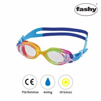 Kính bơi trẻ em Match thương hiệu Fashy (quai xanh)