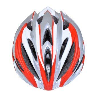 Nón bảo hiểm xe đạp thể thao Suport (Trắng bạc đỏ)