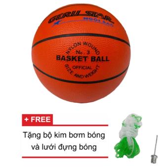 Quả bóng rổ cao su Gerustar số 3