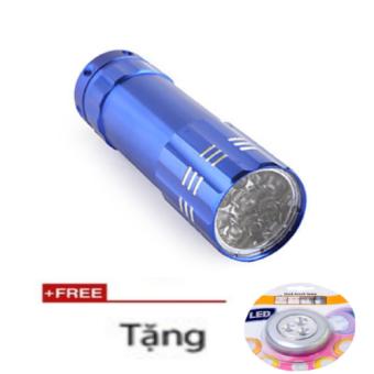 Đèn Pin siêu sáng TTP 9 Bóng + Tặng Đèn led dán tường siêu sáng