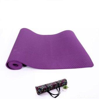 Thảm tập Yoga siêu cao cấp TPE đúc 1 lớp dày 8mm màu tím (có túi đựng đi kèm)