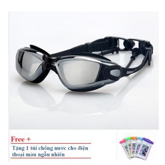 Kính bơi Shenyu tráng bạc ZOZO KB 1010 (Đen) tặng túi chống nước cho điện thoại