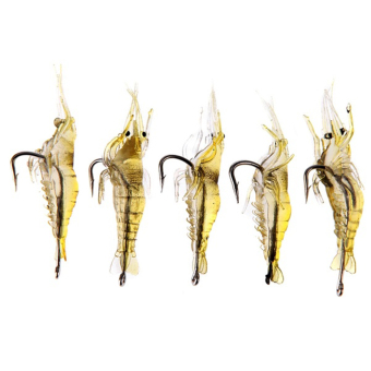 Moonar 4cm Spinner Fishing Lure Simulation of soft shrimp -shaped hook Bait Lures 5Pcs/set - intl
