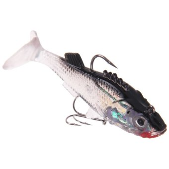 Silicone Soft Lures Worm Fishing Baits Bass Trout Shad Bait Crank Swim Bait - INTL