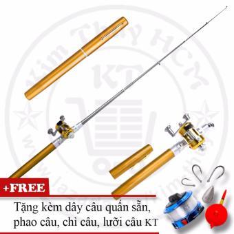 Bộ cần câu cá du lịch KT Mini M2 Gold 100cm