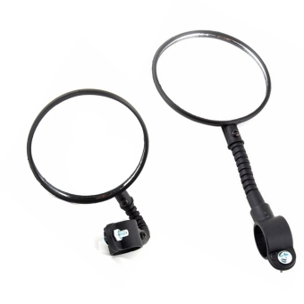 1 Pair Bicycle Handlebar Freely Adjustable Angle Reflector Rearview Mirror