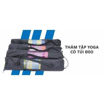 Thảm tập yoga TPE cao cấp (nhiều màu) + Túi đeo thời trang