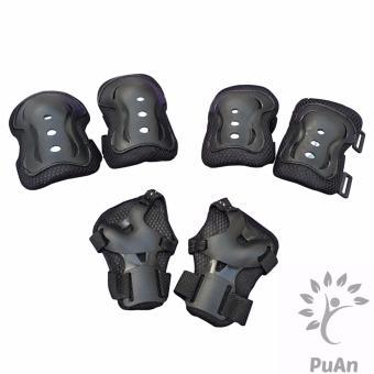 Bộ 6 miếng bảo vệ tay, chân cho bé (Màu Đen)
