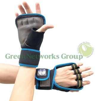 Bộ 2 găng tay tập gym thể hình cao cấp GnG (xanh)