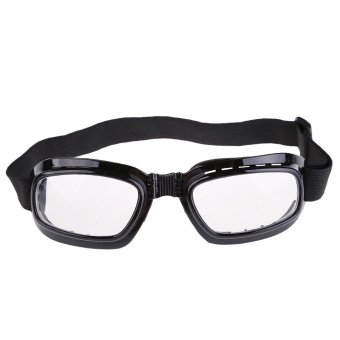 New Folding Pocket Motorcycle Goggles Sports Windproof Glasses Eyewear (Intl)