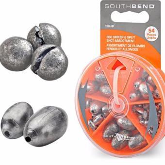 Bộ 56 chì câu Egg/Split-Shot South Bend