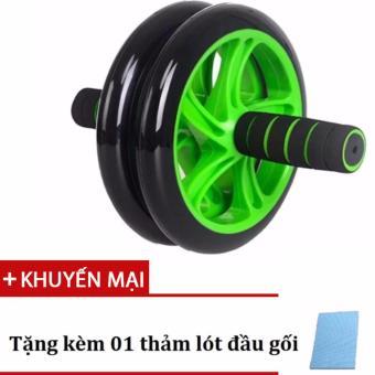 Con lăn tập bụng cỡ lớn chất liệu cao cấp 2 bánh xe Double Wheel (Green)