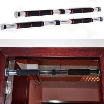 Xà đơn gắn cửa đa năngsiêu bền mới 62-100cm( Đen đỏ)-CBX1