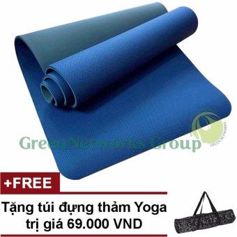 Thảm tập Gym và Yoga TPE 8mm 2 lớp Cao Cấp