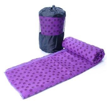 Khăn trải thảm tập Yoga với hạt PVC chống trơn GocgiadinhVN