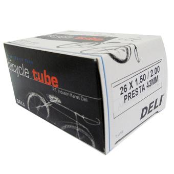Ruột xe đạp DELI 26 x 15 - 20, Van Pháp 48mm (Đen)