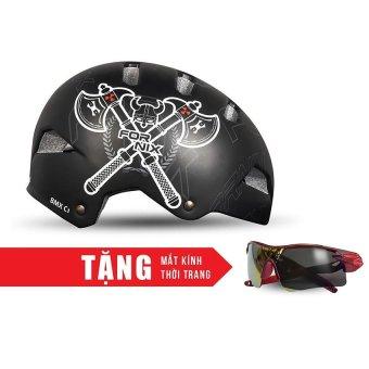 Nón bảo hộ cho người đi xe đạp FORNIX A02NC1 (Rìu) + Tặng Mắt kính thời trang