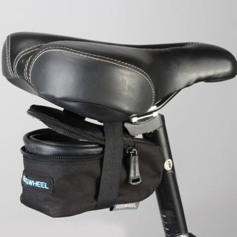 Bicycle Outdoor Seat Saddle Back Frame Tube Bag(Black)-(Intl)