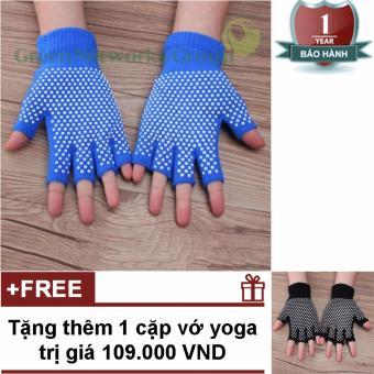 Bao Tay Tập Yoga Chống Trượt Cao Cấp GnG (Xanh)+ Tặng thêm cặp bao tay