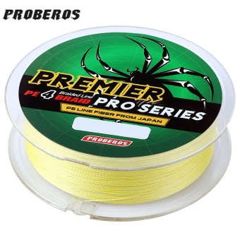 PROBEROS 100M PE 4 Strands Monofilament Braided Fishing Line Accessory 80LBS(Yellow) - intl
