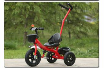 Xe đạp ba bánh hai trong một có cần đẩy phía sau (Đỏ )