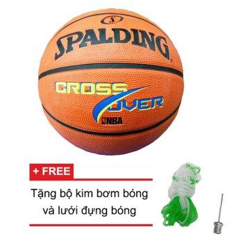 Quả bóng rổ Spalding NBA Cross Over Outdoor Size 7 (Ngoài trời) + Tặng bộ kim bơm bóng và lưới đựng bóng