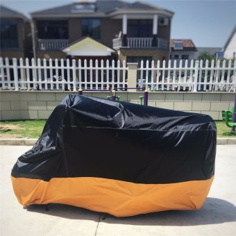 180T Polyester Motorcycle Waterproof Cover L Size - intl