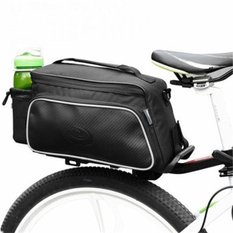 Roswheel Bicycle Bike Rear Tail Seat Pannier Bag Pouch Trunk Rack Shoulder Black - intl