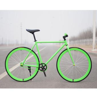 Xe đạp Fixed Gear Single Speed (xanh lá)