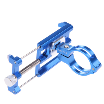 GUB CNC Universal Bicycle Holde Bracket for GPS blue - intl