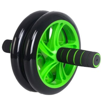 Bánh xe lăn tập bụng và ngực Double Wheel KA05 (xanh)