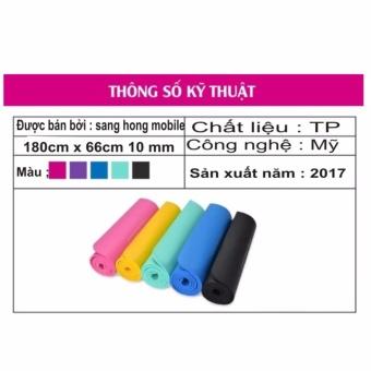 Thảm Tập Yoga Loại( 10 mm ) Cao Cấp Có Túi Đựng Sản Xuất 2017 Loại 1 (Nhiều màu)