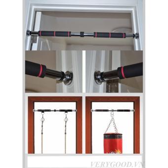 Xà đơn treo tường inox 60 - 100cm (Bạc)