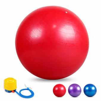 Bóng tập Yoga cao cấp 65cm trơn (Đỏ)
