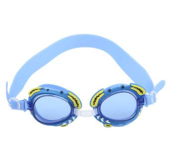 BolehDeals Child Kids Anti-fog Swimming Swim Goggle Glasses w/ Crab Decor Blue - Intl
