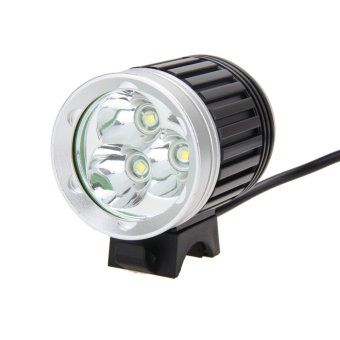 8000Lm 3X CREE XM-L T6 LED Headlamp Headlight Front Bicycle Light - intl